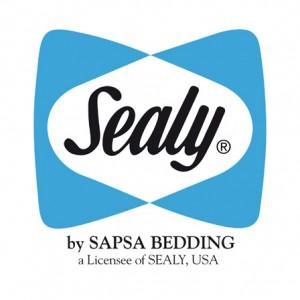Logo de la marque de matelas sealy